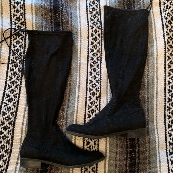 DSW Shoes   Black Knee High Boots With